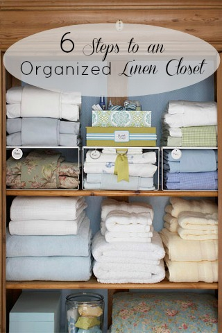 6 Steps to an Organized Linen Closet | Tipsaholic.com #home #organization #closet