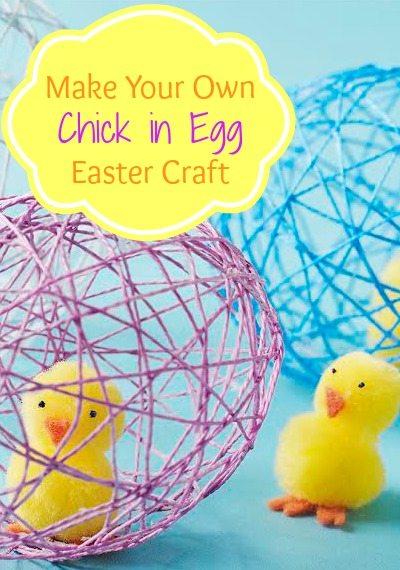 Make Your Own Chick in Egg Easter Craft | Tipsaholic.com #holiday #craft #egg #kids #easter