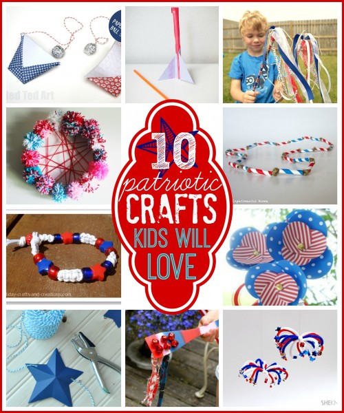10 patriotic crafts kids will love Tipsaholic.com #kidcrafts #patriotic