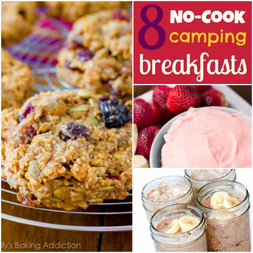 8 ideas for easy, no cook camping breakfasts, #camping, #breakfast, #easyfood