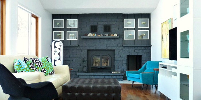 Painted Brick Fireplaces Painting Brick Fireplaces Brick Remodelaholic | Dark Gray Painted Fireplace Focal Wall