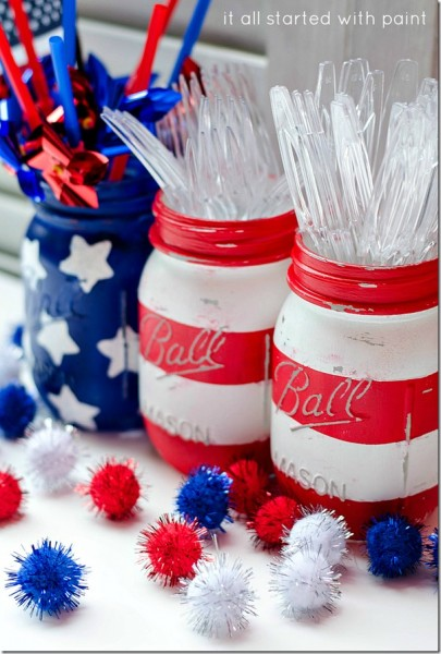 mason jar flag patriotic ideas