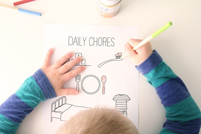 Kids Chore Chart Coloring Page AZ105 | Chore chart kids, Chores ... | 427x640