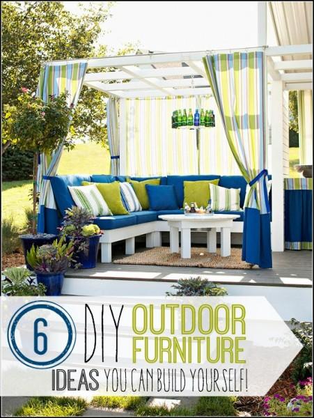 6Great DIY Outdoor Furniture Ideas - @tipsaholic. #DIY #outdoorfurniture #patio #summer