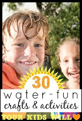 30 Water-Fun Crafts and Activities Your Kids Will Love | Tipsaholic.com #waterfun #summer #watergames #summer #kids #activities