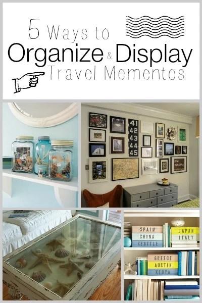 5 Ways to Organize and Display Travel Mementos | Tipsaholic.com #travel #display #mementos #decor #home #ideas