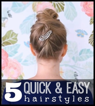 5 Quick and Easy Hairstyles - tipsaholic, #hair, #beauty, #hairtips, #hairstyles, #beautytips, #easy, #DIY