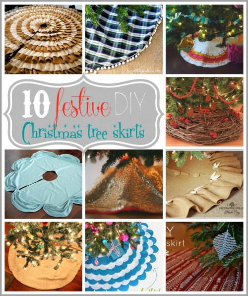 Get creative and customize your tree with a DIY festive tree skirt. Try one of these 10 Festive DIY Christmas Tree Skirts - Tipsaholic, #Christmas, #decor, #decorations, #holidaydecor, #holiday, #Christmasdecorations, #Christmastree, #DIY