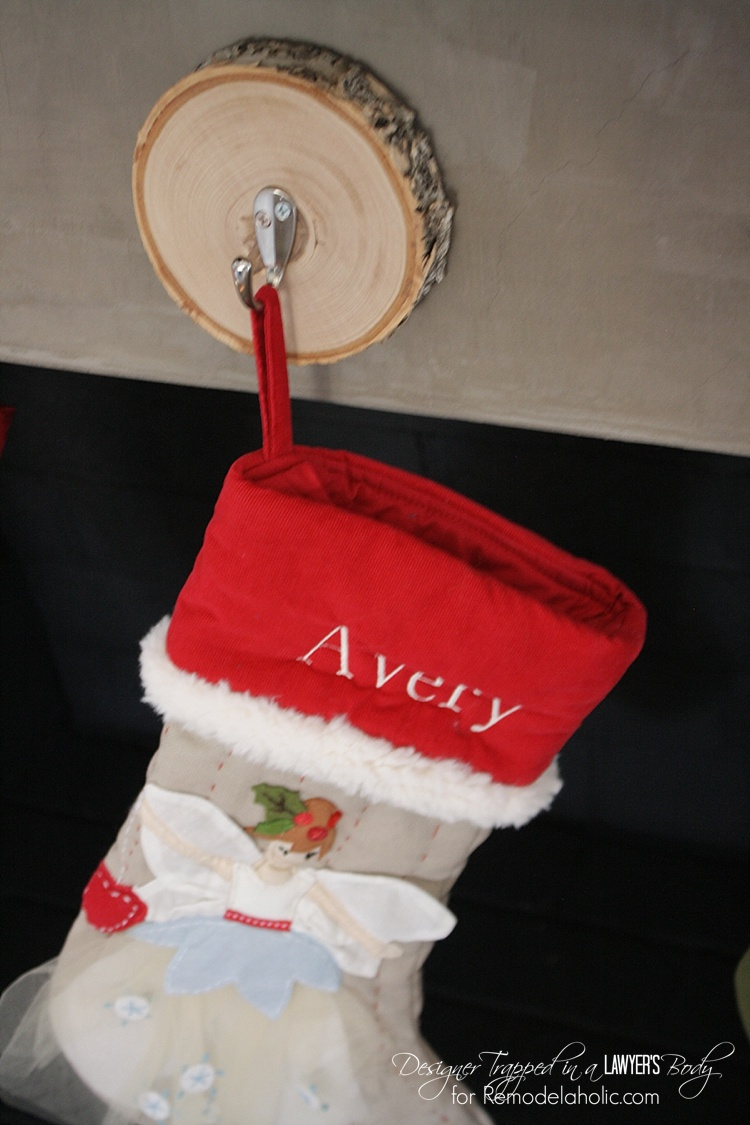 Remodelaholic How To Hang Stockings Without A Mantel Remodelaholic | How To Hang Stockings Without A Mantel