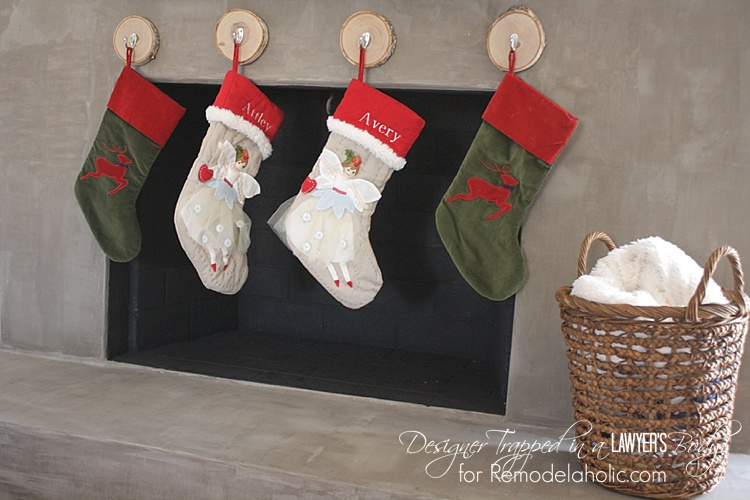 Remodelaholic How To Hang Stockings Without A Mantel How To Hang Stockings Without A Mantel – Remodelaholic