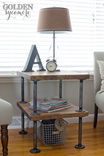 Metal plumbing pipes can be used to build many amazing things, from a clothes rack to a canopy bed! 15 Fabulous DIY Plumbing Pipe Projects via tipsaholic.com #plumbingpipe #pipes #pipe #diy #home