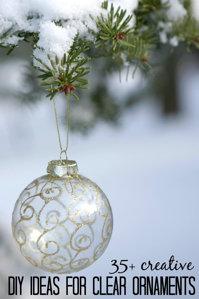 Clear Christmas Ornaments.Remodelaholic 35 Creative Diy Ideas For Clear Glass Ornaments