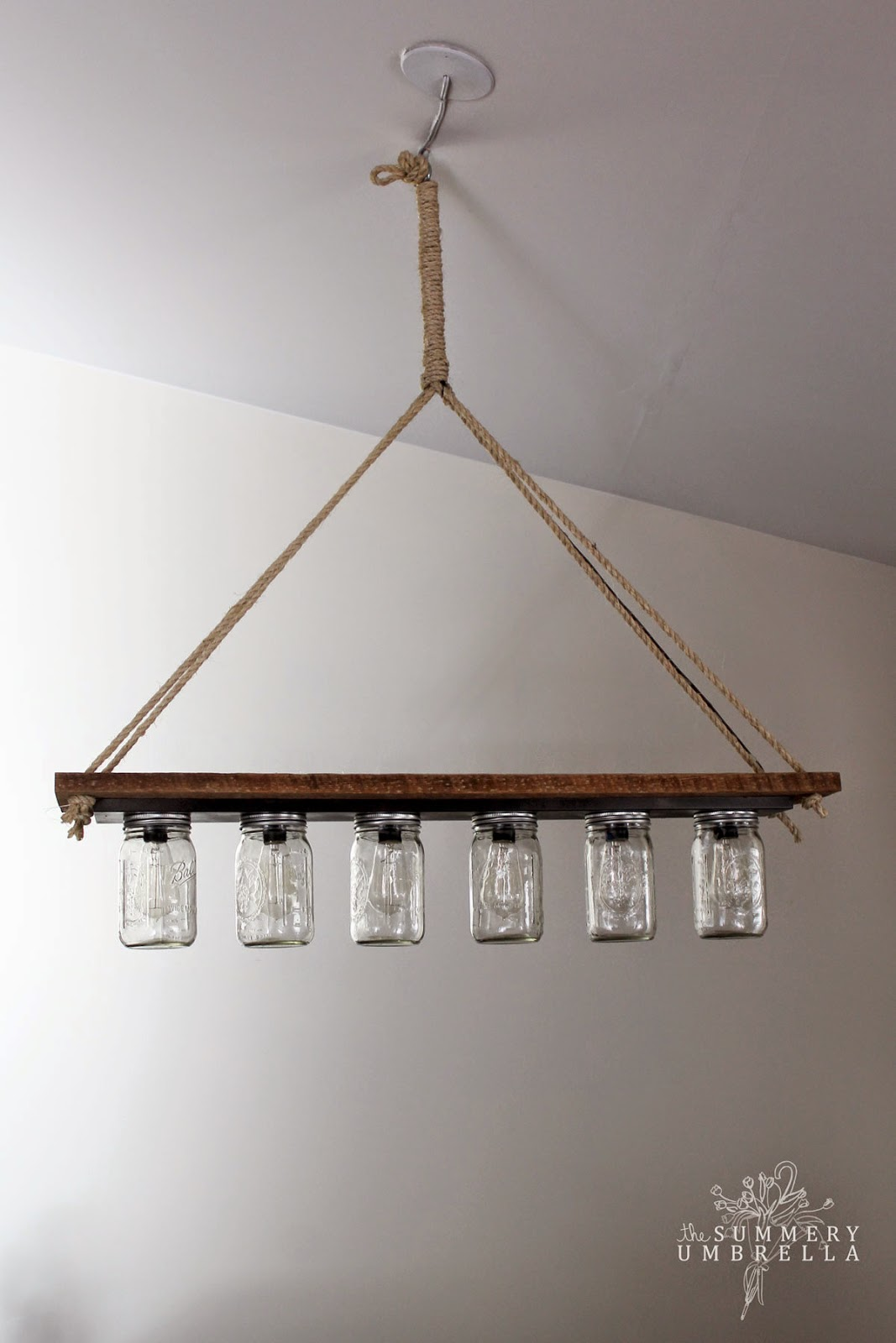 Mason Jar Bathroom Light Remodelaholic Upcycle A Vanity Light Strip To A Hanging Pendant