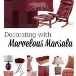Decorating with Marvelous Marsala at tipsaholic.com