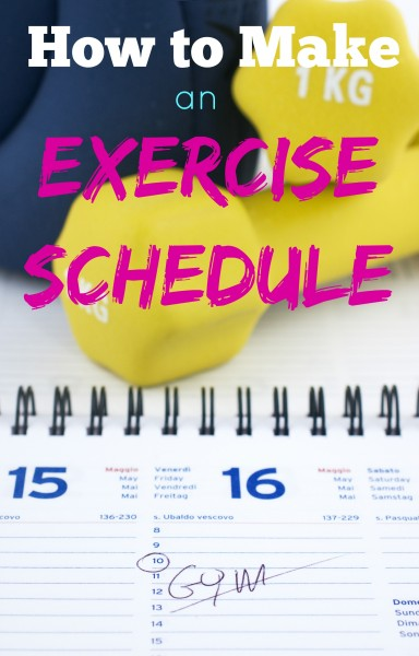 Don't let your exercise resolutions fall by the wayside! Follow these steps to make an exercise schedule you can stick to! How to Make an Exercise Schedule ~ Tipsaholic.com #health #exercise #exerciseschedule