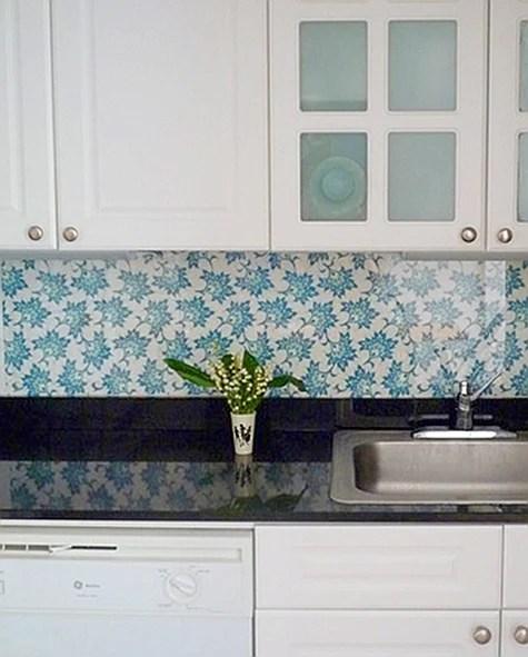 Washable Wallpaper For Kitchen Backsplash: 15 DIY Kitchen Backsplash Ideas