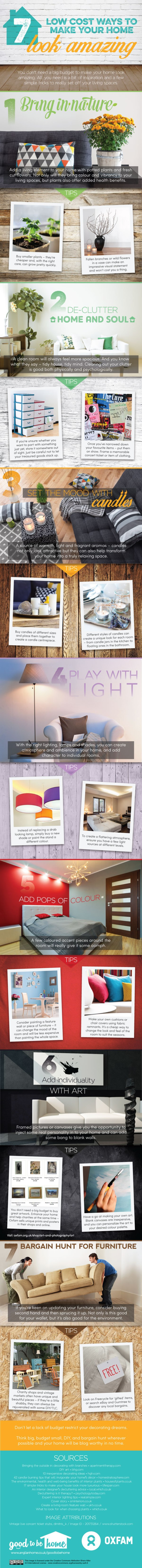 You don't need a big budget to make your home look amazing. All you need is a bit of inspiration and a few simple tricks to really set off your living spaces. Check out all these 7 low cost ways to make your home look amazing via tipsaholic.com #home #decor #house #interiordesign #homedecor