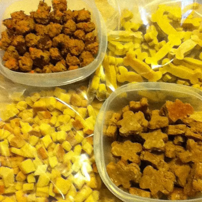 Cooking homemade snacks for pets is one way to show them how much we love them! Here are 25 homemade snacks for dogs, cats, birds, rabbits, and hamsters. Homemade Pet Treats via @tipsaholic #pets #treats #homemade #dogs #cats #petfood