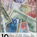 10 Fun DIY Ideas for Leftover Foreign Money via tipsaholic.com