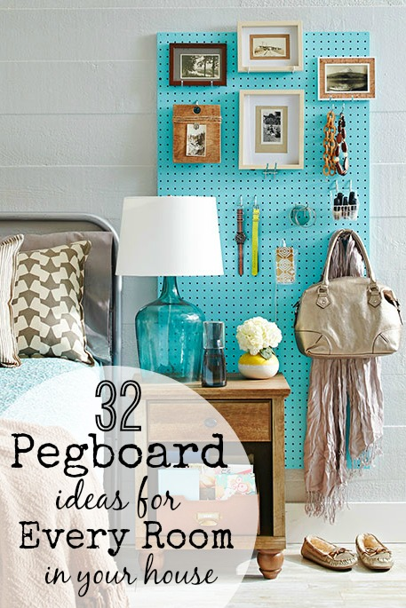 Remodelaholic  32 Pegboard Ideas For Every Room in Your House