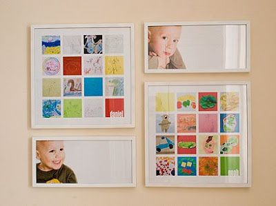 Do you love your kids' art creations, but hate paper clutter? Here are 10 ideas for what to do with your kids' art and schoolwork! 10 Creative Ways to Organize Kids' Art and Schoolwork via @tipsaholic #artwork #kids #kid #art #schoolwork