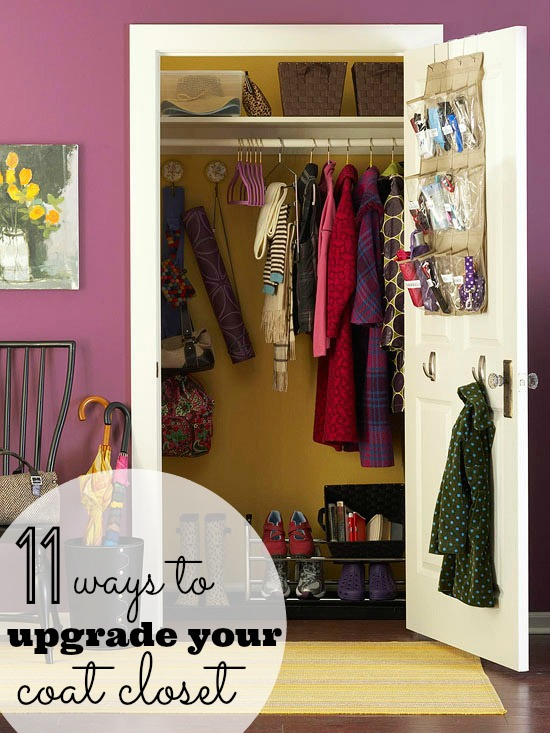 Is your coat closet small and cluttered turn your messy coat closet into an organized