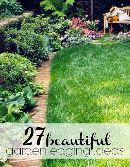 Remodelaholic 27 Beautiful Garden Edging Ideas