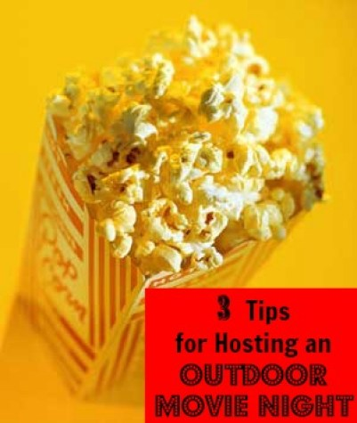 A great way to spend a warm summer night is to host an outdoor movie night in your backyard. Here are 3 tips to get the party started. 3 Tips for Hosting an Outdoor Movie Night via @tipsaholic #movienight #outdoor #backyard #movie #summer #summerfamilyactivities