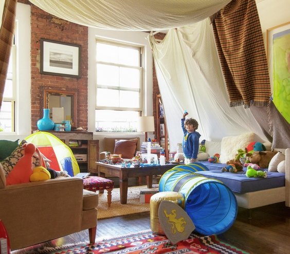 Turn An Entire Room Into Your Fort Space! Want A Fort Feeling Without Being  Cramped? Use The Whole Room And Create The Tent Like Feeling By Hanging And  ...