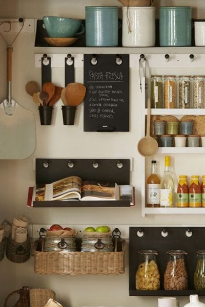 Give your pantry a chance to shine in your home by redesigning with some inspiration from these examples of stylish kitchen storage. 19 Examples of Stylish Kitchen Storage ~ Tipsaholic.com #pantry #design