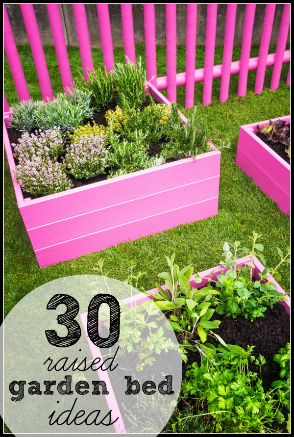 Remodelaholic | 30 Raised Garden Bed Ideas