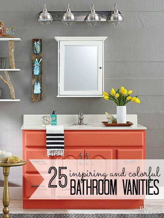 25 Inspiring And Colorful Bathroom Vanities Via @tipsholic #bathroom #vanity  #colorful #