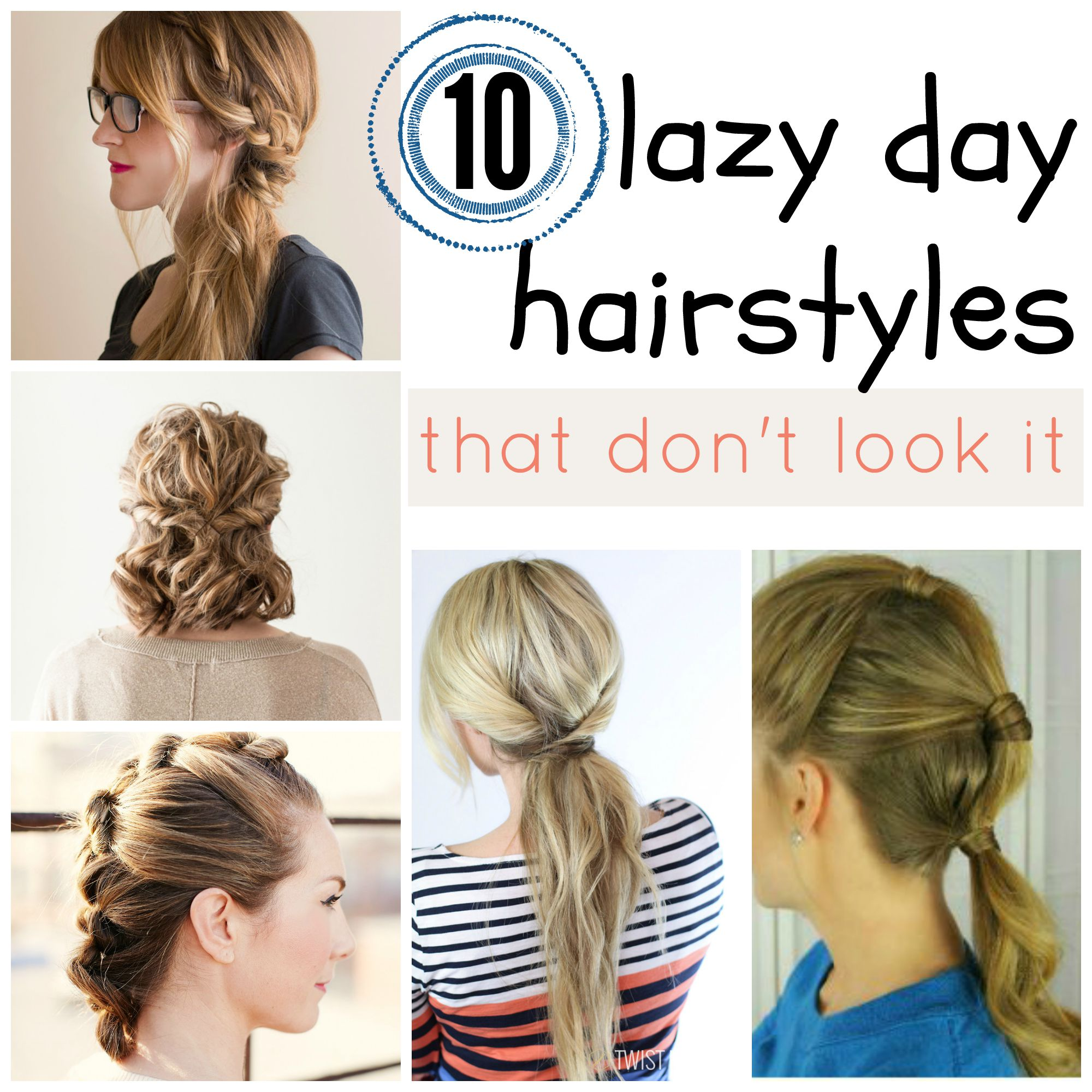 remodelaholic | 10 lazy day hairstyles that don't look it