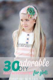 adorable diy hair accessories