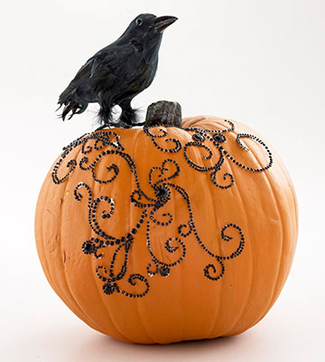 35 No-Carve Pumpkin Decorating Inspirations - Tipsaholic, #Halloween, #halloweenDIY, #pumpkin, #nocarvepumpkins