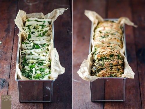 garlic herb cheese pull apart bread recipe