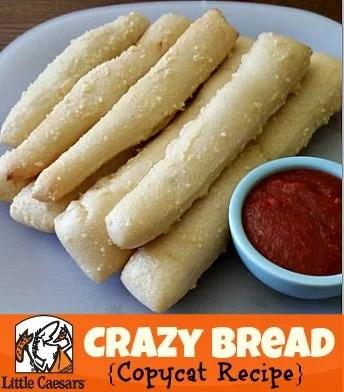 little caesar's crazy bread copycat bread recipe