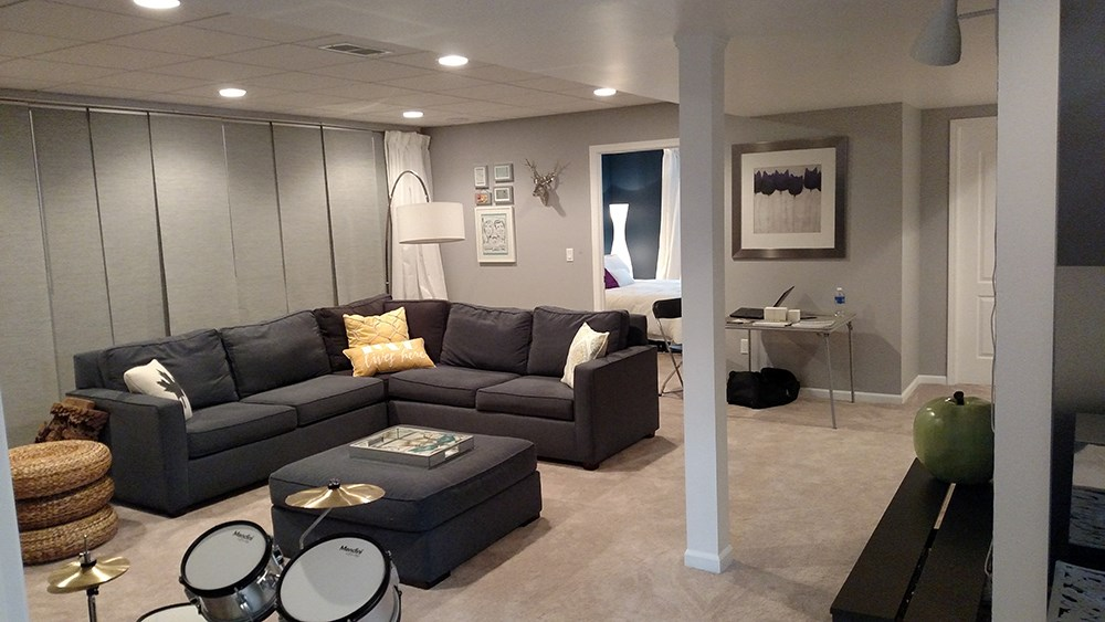 Family Room Basement Finishing Projects