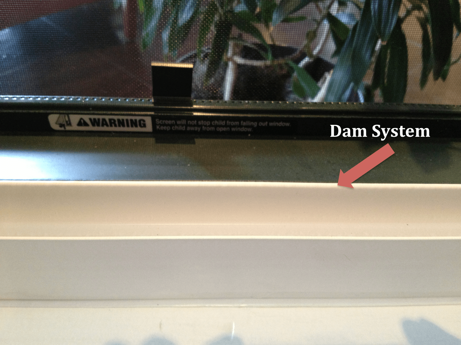 hight resolution of window dam system for window replacement