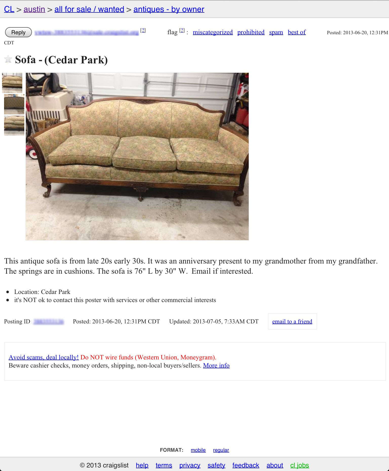 Re upholstering an antique sofa the DIY way – Remodelicious