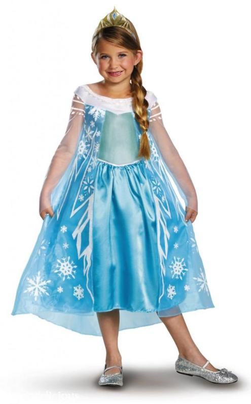 Don't fear, Amazon.com has you covered again with this budget friendly version of Elsa's ice dress for under $35.