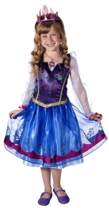 For even less out of your pocket, you may want to consider this version of the Anna costume for under $20 on Amazon.com.  It looks to be a knock-off (hence the similar but not spot-on details), but still a great option at less than half of the retail of the Disney Store version.