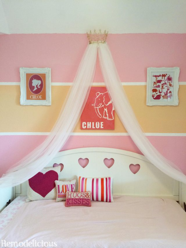 DIY Princess Crown Bed Canopy From Upcycled Pageant Crown - Canopy idea bed crown