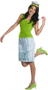 Sexy Oscar the grouch women's costume