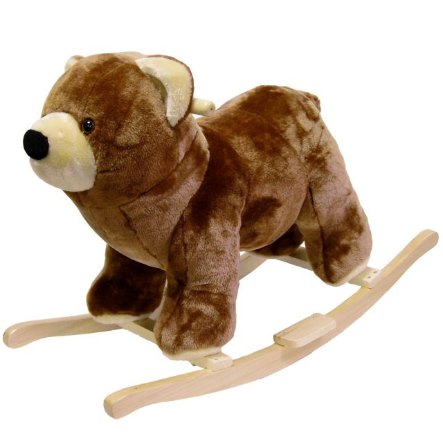 "I am so in love with plush rocking ""horse"" animals.  We had the giraffe version in our nursery and our girls would hug him while rocking.  This bear rocking ""horse"" animal is well made and reasonably priced on Amazon.com."