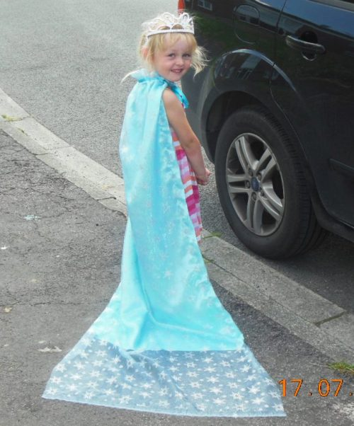 handmade elsa ice gown costume