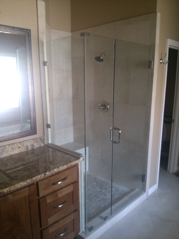 Frameless Glass Shower  Bathroom Renovation  Medford