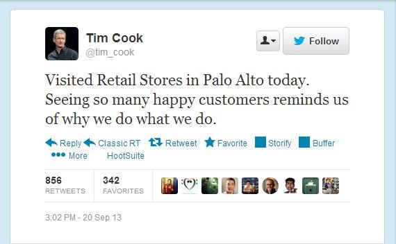 timcook El primer tuit del jefe de Apple [Tecno]