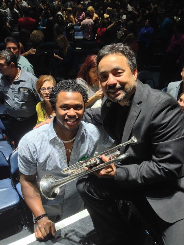 Hanley Ramirez y Angel Fernandez,Director Musical Marc Anthony