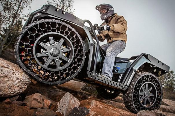 polaris sportsman wv850 ho atv 2 xl Primer vehículo con ruedas sin aire